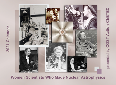 Calendar of Women Scientists Who Made Nuclear Astrophysics (cover)